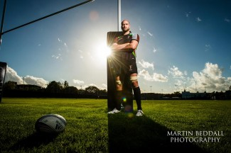 Editorial portraiit of a rugby player