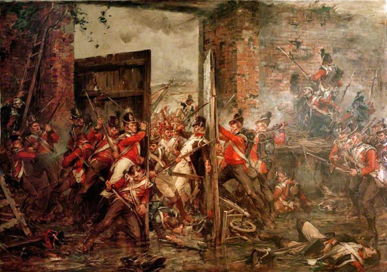 Robert Gibb's painting of Hougoumont