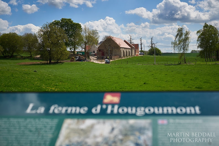 View looking at Hougoumont at Waterloo