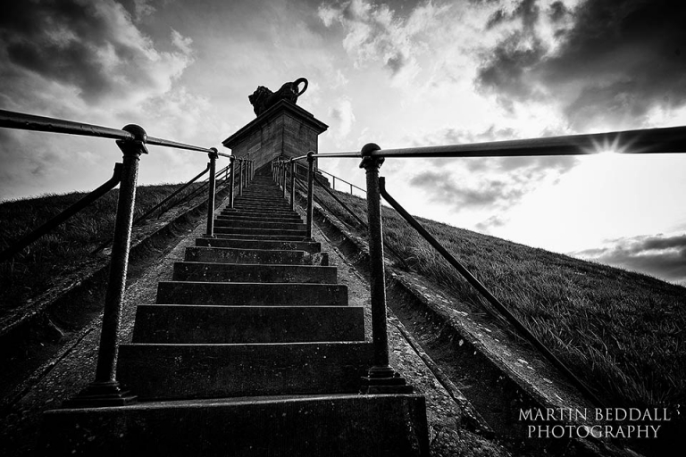 Steps up the Butte du Lion at Waterloo