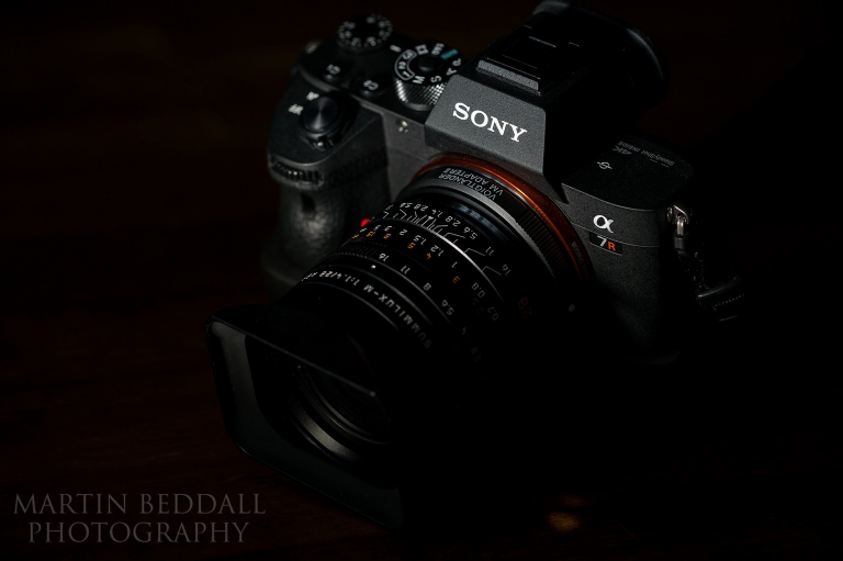 Sony A7RIII camera with Leica 28mm f1.4 summilux lens attached.